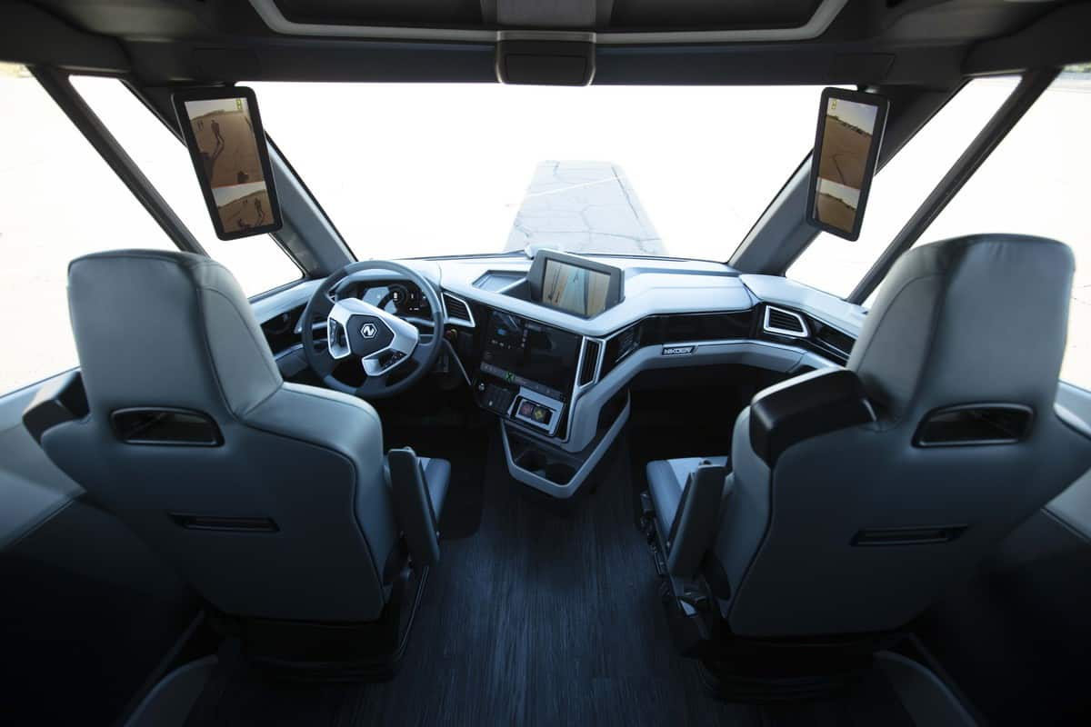A View Of The Nikola Two Hydrogen Powered Truck Interior